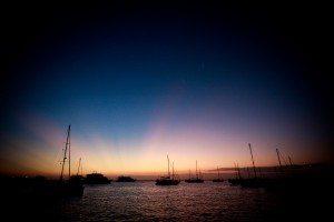 galapagos marina sunset