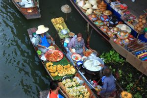 Asian floating market buying