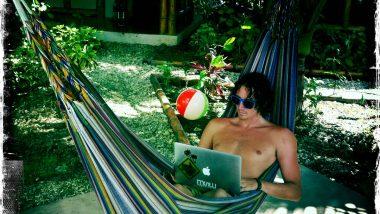 backpacker hammock working south america ecuador