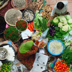 Veg market bargain barter