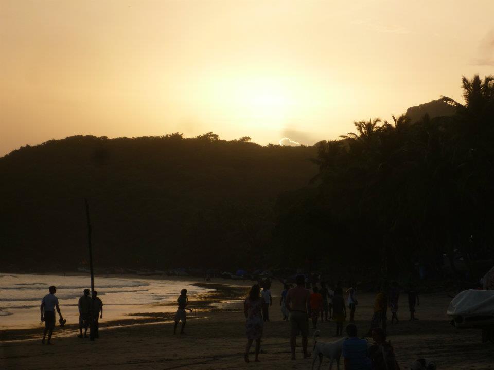 sunset goa india travel asia