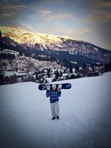 snowboarding xmas switzerland