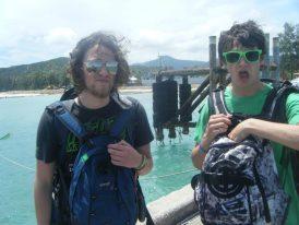backpacker ferry island transfer Thailand