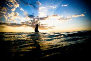surfing australia byron bay the pass sunset
