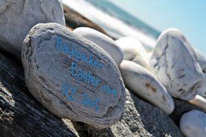 backpacker rocks bruce bay new zealand