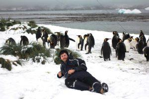 backpacker travel Antarctica