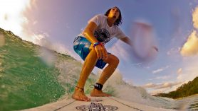 surfing in byron bay gopro