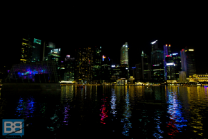 Singapore Skyline marina backpacker asia