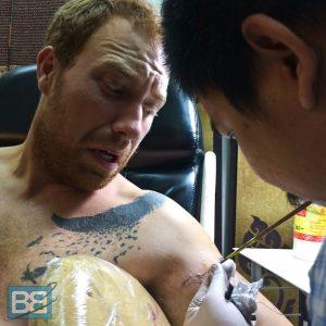 sak yant bamboo tattoo thailand