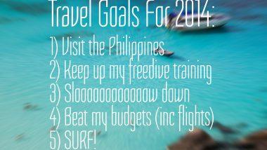 2014 travel goals