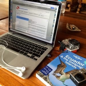 backpacker galapagos islands travel planning macbook pro