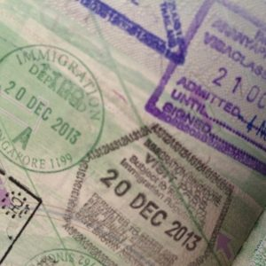passport stamps travel gap year