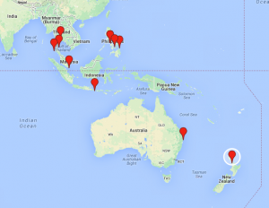 rtw gap year planning route asia oz nz