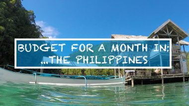 backpacker travel budget for month in the philippines