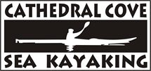 cathedral cove kayak tours logo new zealand