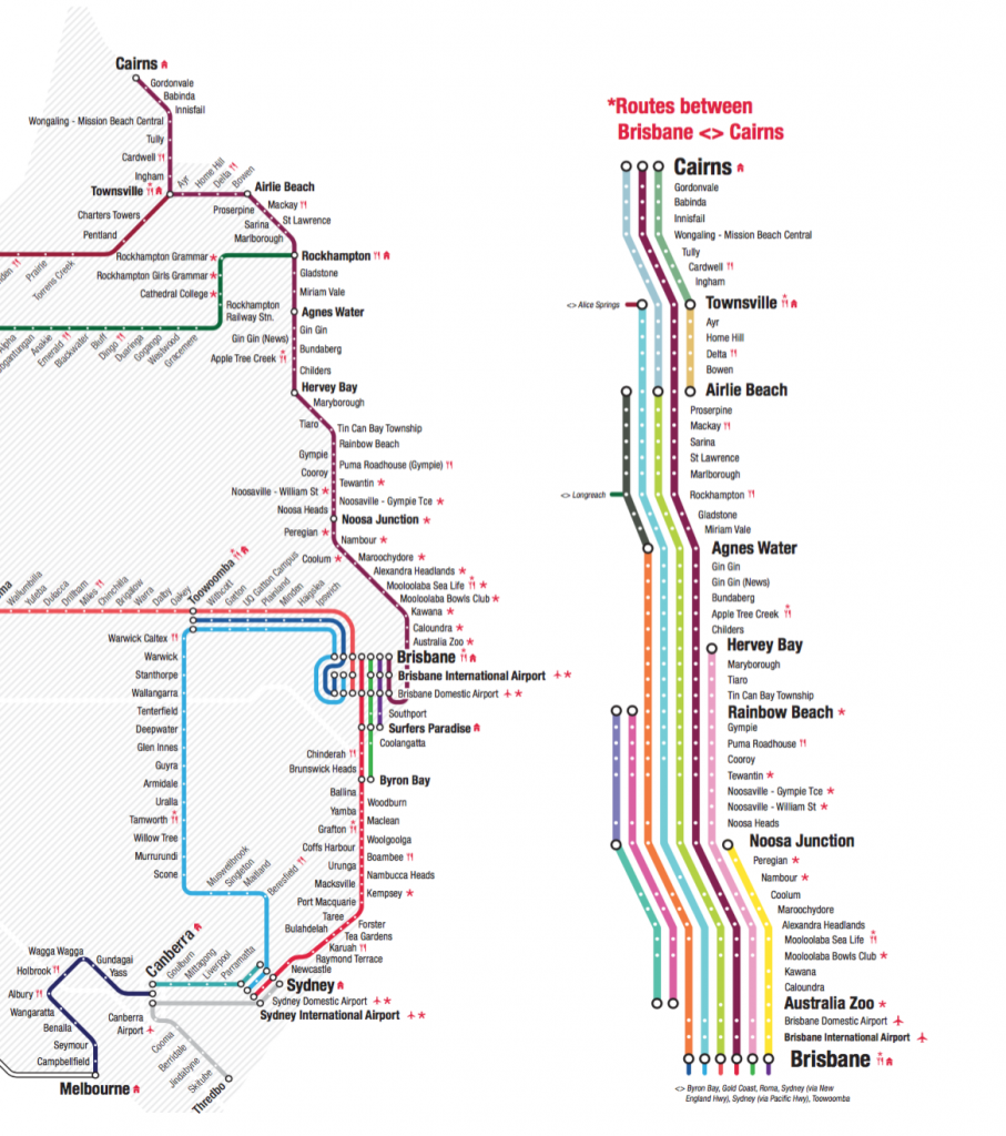 travelling around australia the greyhound route map guide